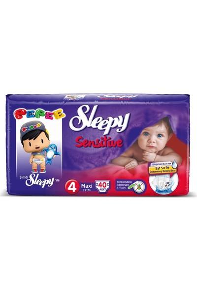 Sleepy Sensitive Pepee 4 Beden Maxi 40 Adet Bebek Bezi