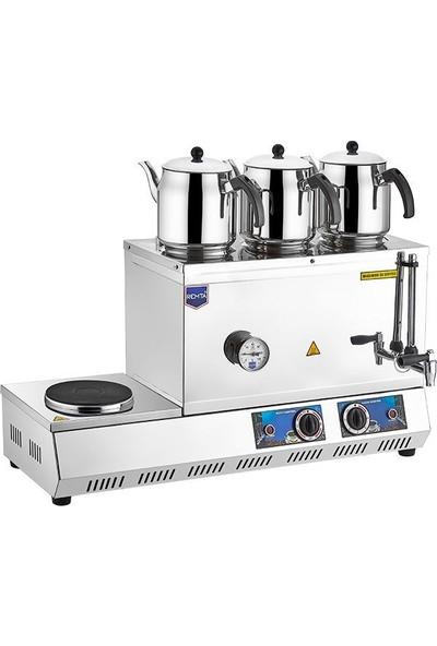 Remta Remta Elektrikli 3 Demlikli 33 Lt Çay Ocağı Kazanı Makinesi