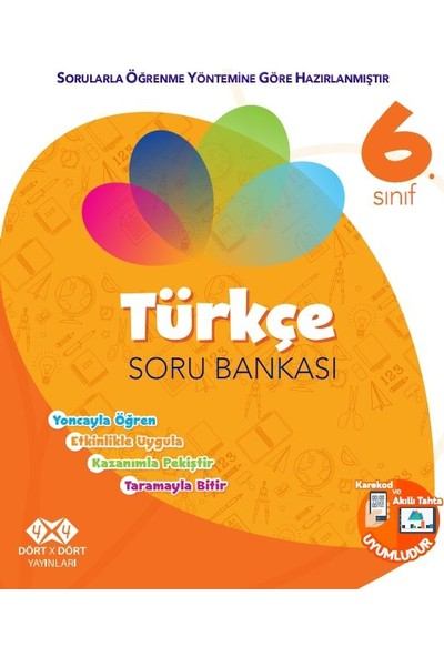 Dört X Dört Yayınları 6.Sınıf Türkçe Soru Bankası