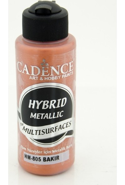 Cadence Multi Surface ( Multisurface ) Hibrit Metalik Boya H805 Bakır 120 Ml