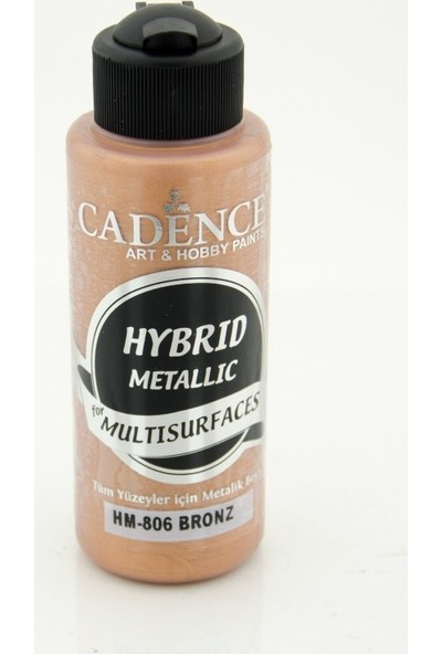 Cadence Multi Surface ( Multisurface ) Hibrit Metalik Boya H806 Bronz 120 Ml