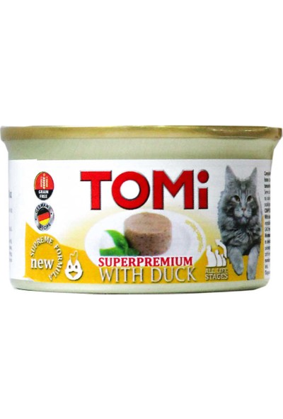 Tomi Tahılsız Ördekli Kedi Konservesi 85 gr