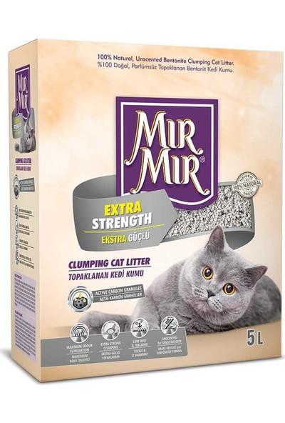 Mırmır Extra Strength Süper Topaklanan Kedi Kumu 5 Lt