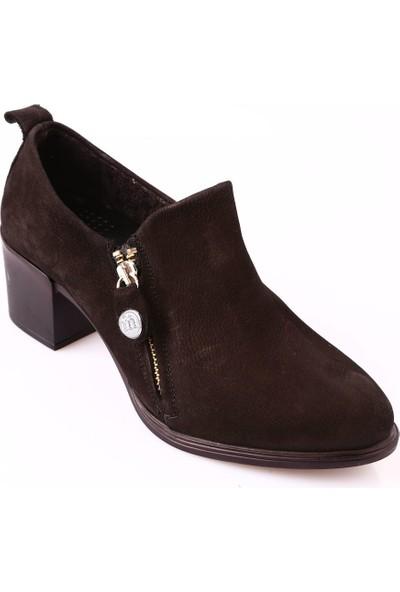 Mammamia D18Ka-3120 Kadın Ayakkabı Günlük Siyah Nubuk
