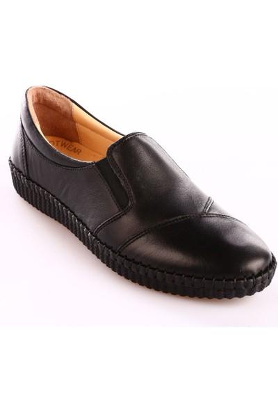 Dgn P02 Kadın Strobelli Anatomıc Footwear Babet Siyah