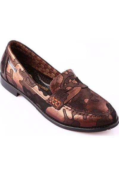 Mammamia D18Ka-370 Kadın Ayakkabı Günlük Bakır Yaprak