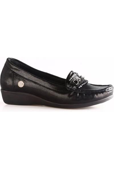 Mammamia 3020B Kadın Günlük Ayakkabı Siyah Saten