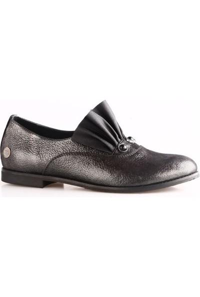 Mammamia 585B Kadın Günlük Ayakkabı Çelik Simli Flotur