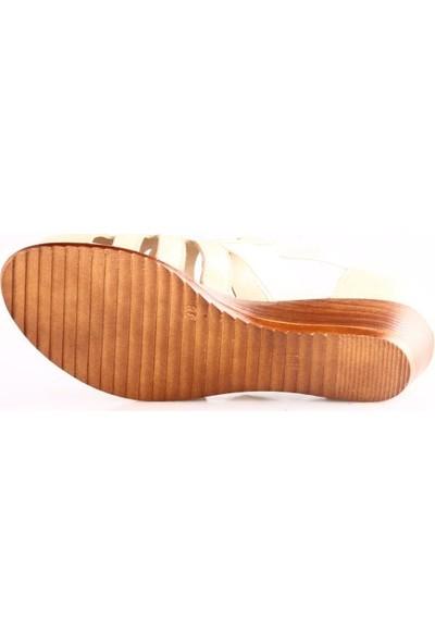 Mammamia 1635B Kadın Sandalet Bej Faber