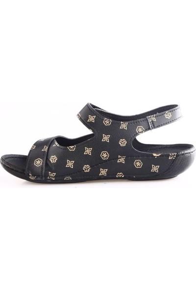 Pierre Cardin 1362-3009 Kadın Klasik Sandalet Siyah Bej