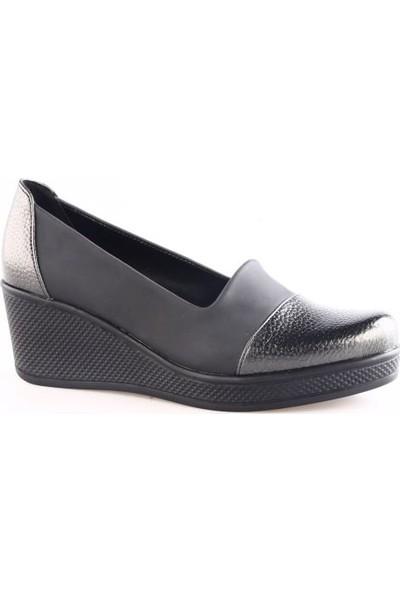 Dgn 6812 Kadın Dolgu Taban Ayakkabı Platin