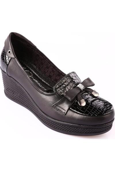 Mammamia D18Ka-110 Kadın Ayakkabı Günlük Siyah Fbr/Siyah Msr Rgn