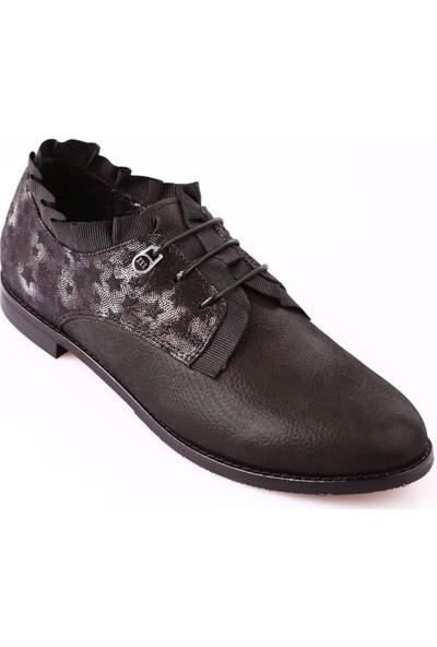 Mammamia D18Ka-440 Kadın Ayakkabı Günlük Siyah Sml Fltr/Siyah Yıldız