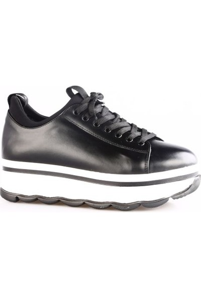 Dgn K01 Kadın Yüksek Taban Sneakers Spor Ayakkabı Int-49 Siyah