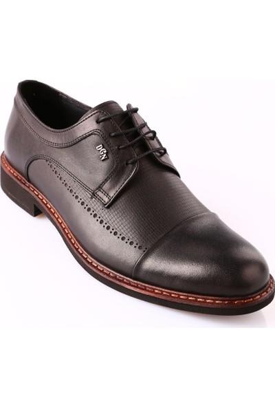 Dgn 1720-B Erkek Termo Taban Bağcıklı Klasik Ayakkabı Siyah