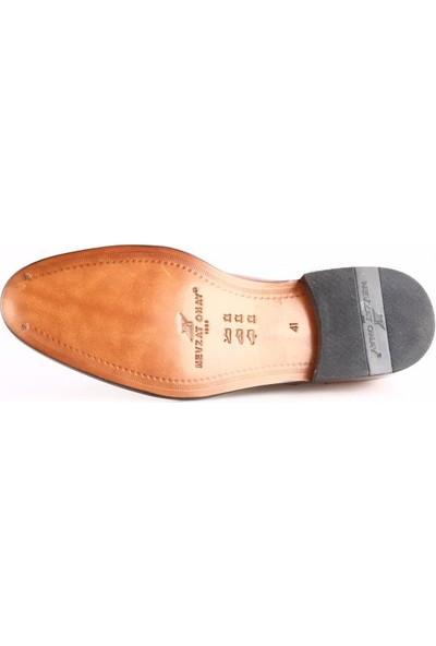 Nevzat Onay 6506-530 Erkek Kösele Taban Klasik Ayakkabı Safran Antik