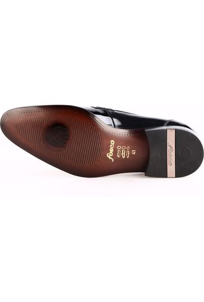 Fosco 7513 Erkek Neolit Taban Klasik Ayakkabı Siyah Rugan