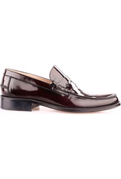 Nevzat Onay 7648-051 Erkek Kauçuk Taban Klasik Rok Ayakkabı Bordo Açma