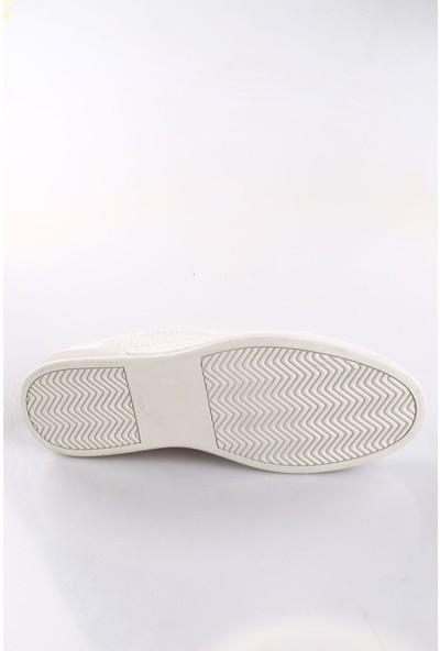 Dgn 85 Erkek Lazerli Casual Sneakers Spor Ayakkabı Beyaz