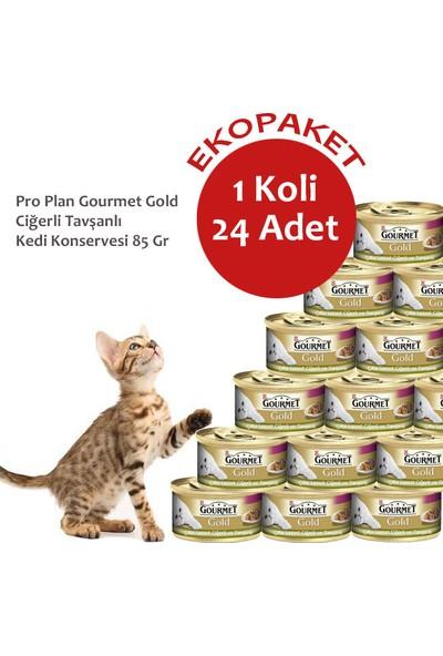 Gourmet Gold Ciğerli Tavşanlı Kedi Konservesi 85 Gr- 24