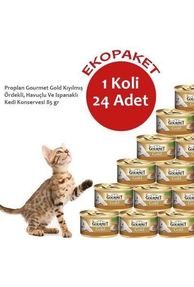 Gourmet Gold Kıyılmış Ördekli, Havuçlu Kedi Konservesi
