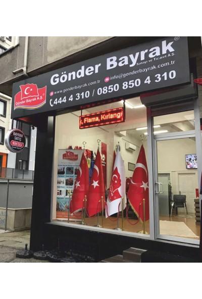 Gönder Bayrak Atatürk Kristal Parlak Saten Flama 50 x 75 cm