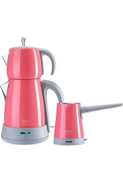 Arzum AR3029 Ehlikeyf Delux Çay ve Kahve Makinesi Seti - Mercan