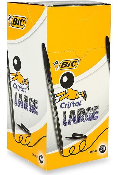 Bic Cristal Large Tükenmez Kalem 50'li Kutu - Siyah