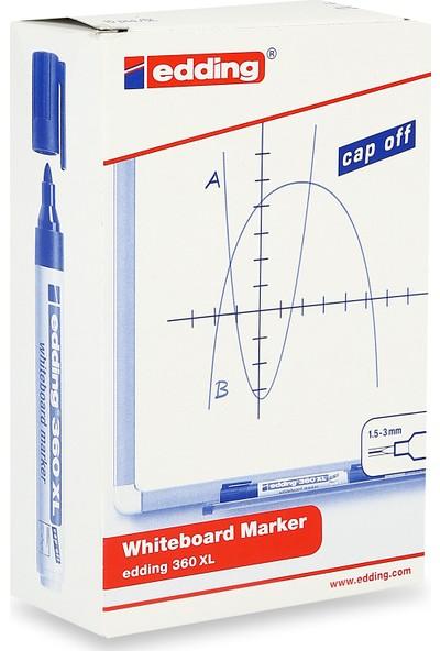 Edding Beyaz Tahta Kalemi Cap Off E-360Xl Mavi 10 Lu