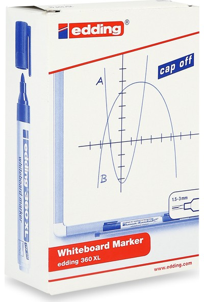 Edding 360 XL Board Marker Beyaz Yazı Tahtası Kalemi Yeşil 10'lu Paket