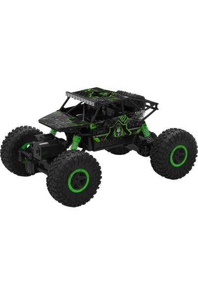 R/C 1:18 Rock Crawler 4x4 WD Uzaktan Kumandalı Araba Buggy Jeep - Yeşil