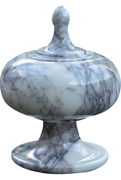 Matmazel Mermer Onyx Değerli Taşı Ve Doğal Mermer Taşlarından İmal Edilmiş Modern El Yapımı Şekerlik