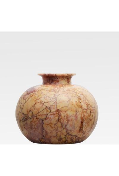 Matmazel Mermer Onyx Değerli Taş Ve Doğal Mermerden İmal El Yapımı Modern Vazo.
