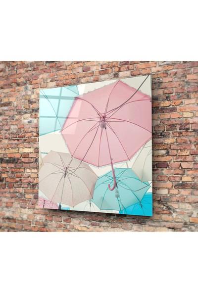 Insigne Renkli Şemsiyeler Cam Tablo