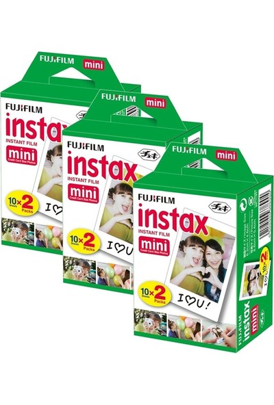 Fujifilm Instax Mini 20'Li Film 3'Lü Set