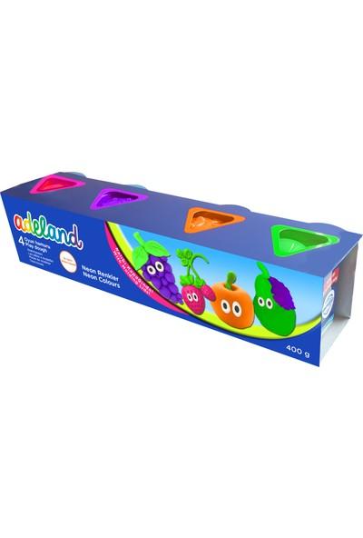 Adeland Oyun Hamuru 4'lü Neon Renkler