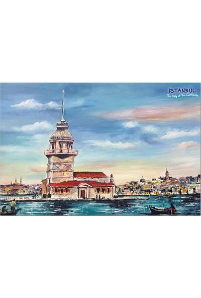 Direkt-Al Yapışkanlı Pano/İstanbul, Kız Kulesi 33X48 Cm.