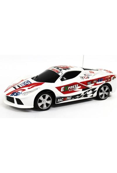 Toys Park Uzaktan Kumandalı Beyaz Yarış Arabası 360 Derece Dönebilme