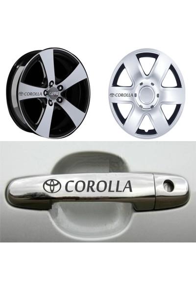 Mtm Toyota Corolla Kapı Kolu Jant Sticker