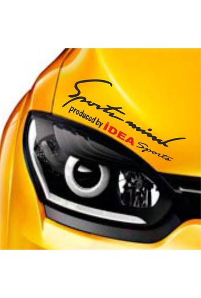 Mtm Fiat İdea Sports Mind Far Üstü Oto Sticker