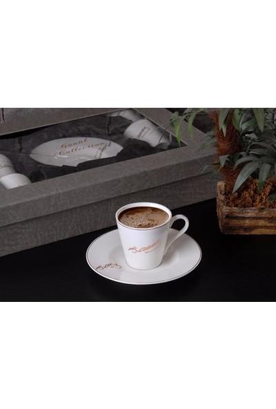Gönül Porselen 6 Kişilik Atatürk İmzalı Kahve Fincanı Takımı