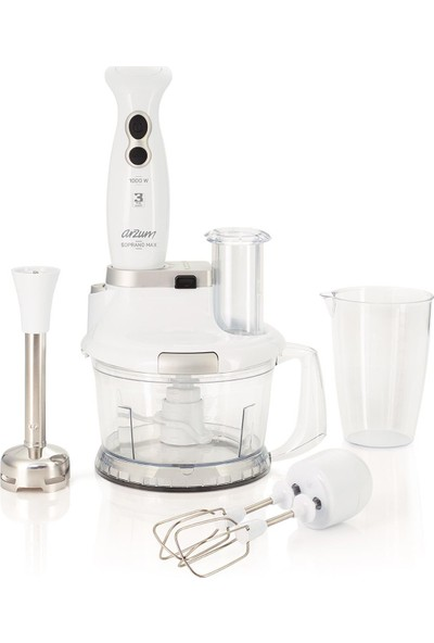 Arzum AR1004 Soprano Max 1000W Multi Blender Seti [Beyaz]