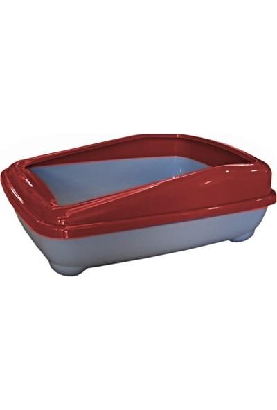 Chakie Kedi Tuvalet Kum Kabı 50/37/13.5 Cm Kırmızı + Kürek Hediye