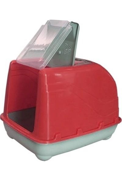 Chakie Lüks Üstü Açılabilir Kedi Tuvaleti 38-50 Cm Kırmızı