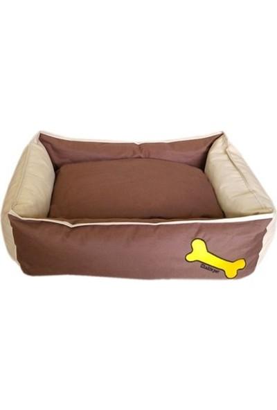 Chakie Su Geçirmez Köpek Yatağı Kahverengi-Krem M 15*55*80 Cm