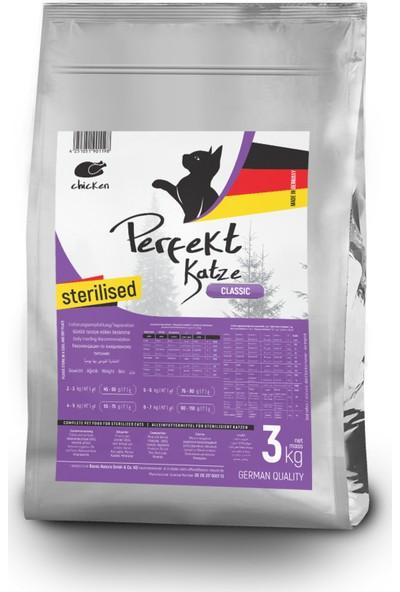 Perfekt Katze Sterilised Chicken, Tavuk Etli Kısır Kedi Maması 3 kg