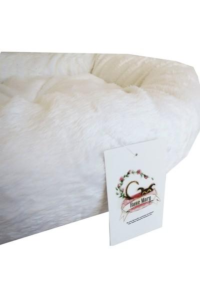 Betone RoseMary Beyaz Simit Kedi ve Köpek Yatağı 50 cm