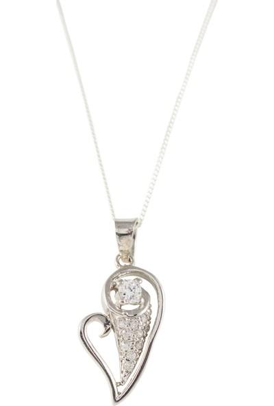 Estel Gümüş Kalp Kolye