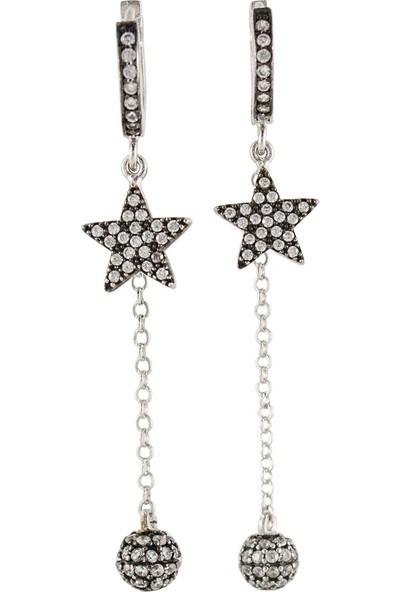 Estel Gümüş Kuyruklu Yıldız Küpe