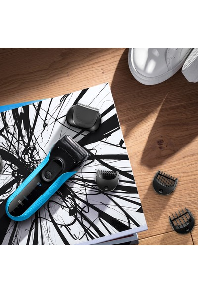 Braun Series 3 3010BT 3'Ü 1 Arada, Sakal Şekilendirici ve Tıraş Makinesi Islak & Kuru Tıraş/Tıraş Makinesi